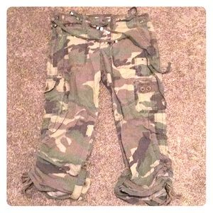 A&F crop Army Pants